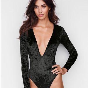 Victoria's Secret velvet bodysuit